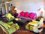 サムイ島 ビーチフロントのホテル : インピアナ リゾート サムイ 「Lobby」