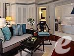 サムイ島 オーシャンビューのホテル : インターコンチネンタル サムイ バーン タリン ガム リゾート(Inter Continental Samui Baan Taling Ngam Resort)のオーシャンビュールームの設備 Bedroom