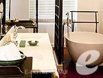 サムイ島 オーシャンビューのホテル : インターコンチネンタル サムイ バーン タリン ガム リゾート(Inter Continental Samui Baan Taling Ngam Resort)のオーシャン ビュー ジュニア スイートルームの設備 Bathroom