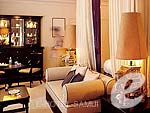 サムイ島 オーシャンビューのホテル : インターコンチネンタル サムイ バーン タリン ガム リゾート(Inter Continental Samui Baan Taling Ngam Resort)のオーシャン ビュー ジュニア スイートルームの設備 Bedroom