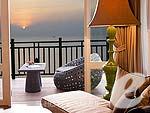 サムイ島 オーシャンビューのホテル : インターコンチネンタル サムイ バーン タリン ガム リゾート(Inter Continental Samui Baan Taling Ngam Resort)のオーシャン ビュー ジュニア スイートルームの設備 Balcony