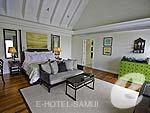 サムイ島 オーシャンビューのホテル : インターコンチネンタル サムイ バーン タリン ガム リゾート(Inter Continental Samui Baan Taling Ngam Resort)のビーチフロント プールヴィラルームの設備 Bedroom