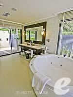 サムイ島 オーシャンビューのホテル : インターコンチネンタル サムイ バーン タリン ガム リゾート(Inter Continental Samui Baan Taling Ngam Resort)のビーチフロント プールヴィラルームの設備 Bathroom