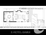 サムイ島 オーシャンビューのホテル : インターコンチネンタル サムイ バーン タリン ガム リゾート(Inter Continental Samui Baan Taling Ngam Resort)のビーチフロント プールヴィラルームの設備 Floor Plan