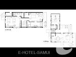 サムイ島 オーシャンビューのホテル : インターコンチネンタル サムイ バーン タリン ガム リゾート(Inter Continental Samui Baan Taling Ngam Resort)の3ベッドルーム ナパ リザーブ ヴィラルームの設備 Floor Plan