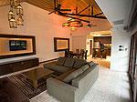 プーケット ファミリー&グループのホテル : ジャー ヴィラ(Jah Villa)の3ベッドルームルームの設備 Living Room