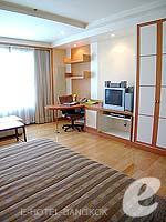 バンコク サービスアパートのホテル : ジャスミン シティ ホテル(Jasmine City Hotel)のスーペリアルームの設備 Bedroom