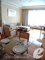 バンコク サービスアパートのホテル : ジャスミン シティ ホテル(Jasmine City Hotel)のスーペリア 1ベッドルーム スイートルームの設備 Dining Area