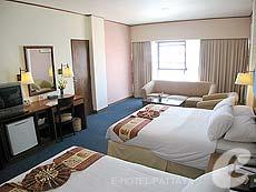 パタヤ ジョムティエンビーチのホテル : ジョムティエン パーム ビーチ(1)のお部屋「デラックス/メイン ウイング」