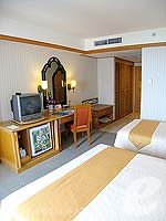 パタヤ ジョムティエンビーチのホテル : ジョムティエン パーム ビーチ(Jomtien Palm Beach)のスーペリア/ジョムティエン ウィングルームの設備 Bedroom