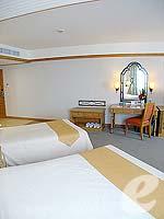 パタヤ ジョムティエンビーチのホテル : ジョムティエン パーム ビーチ(Jomtien Palm Beach)のデラックス/ジョムティエン ウィングルームの設備 Bedroom