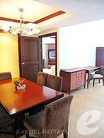パタヤ ジョムティエンビーチのホテル : ジョムティエン パーム ビーチ(Jomtien Palm Beach)のスイート/ジョムティエン ウィングルームの設備 Dining