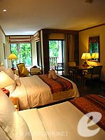 プーケット ファミリー&グループのホテル : JW マリオット プーケット リゾート&スパ(JW Marriott Phuket Resort & Spa)のデラックスルームの設備 Bedroom