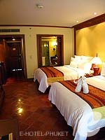 プーケット その他・離島のホテル : JW マリオット プーケット リゾート&スパ(JW Marriott Phuket Resort & Spa)のデラックス シービュールームの設備 Bedroom