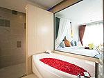 プーケット インターネット接続(無料)のホテル : カリマ リゾート & スパ(Kalima Resort & Spa)のハネムーン スイートルームの設備 Bath Room