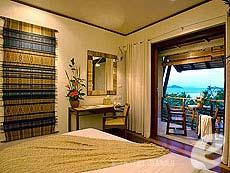サムイ島 プールヴィラのホテル : カマラヤ コ サムイ(1)のお部屋「ヒルサイド ルーム シービュー(ダブル)」