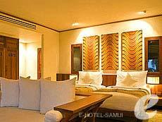 サムイ島 プールヴィラのホテル : カマラヤ コ サムイ(1)のお部屋「スイート シービュー (ダブル)」