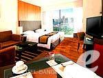 バンコク スワンナプーム空港周辺のホテル : カンタリーハウス & サービス アパートメント バンコク(Kantary Hotel & Serviced Apartments Bangkok)のスタジオルームの設備 Room View