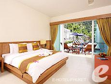 プーケット 5,000円以下のホテル : カタ ラッキー ビラ & プール アクセス(1)のお部屋「プールアクセス」