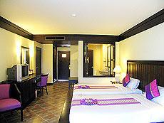 プーケット カタビーチのホテル : カタ プールサイド リゾート(1)のお部屋「デラックス (ツインベット)」