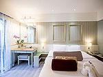 プーケット ビーチフロントのホテル : カタタニ プーケット ビーチ リゾート(Katathani Phuket Beach Resort)のデラックス プール(ブリウィング)ルームの設備 Bedroom