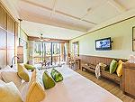 プーケット ビーチフロントのホテル : カタタニ プーケット ビーチ リゾート(Katathani Phuket Beach Resort)のジュニア スイート(Thani Wing)ルームの設備 Bedroom