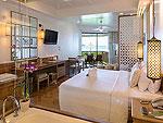 プーケット ビーチフロントのホテル : カタタニ プーケット ビーチ リゾート(Katathani Phuket Beach Resort)のジュニアスイートオーシャンフロント(タニウィング)ルームの設備 Bedroom