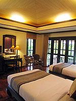 プーケット カップル&ハネムーンのホテル : カオラック パーム ビーチ リゾート(Khaolak Palm Beach Resort)のデラックス ガーデンルームの設備 Bedroom