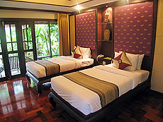 プーケット ヴィラコテージのホテル : カオラック パーム ビーチ リゾート(1)のお部屋「デラックス ガーデン」