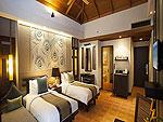 プーケット ファミリー&グループのホテル : カオラック メルリン リゾート(Khaolak Merlin Resort)のデラックスルームの設備 Bedroom