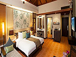 プーケット カップル&ハネムーンのホテル : カオラック メルリン リゾート(Khaolak Merlin Resort)のデラックスルームの設備 Bedroom