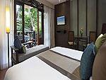 プーケット カップル&ハネムーンのホテル : カオラック メルリン リゾート(Khaolak Merlin Resort)のプールアクセス(シングル)ルームの設備 Bedroom