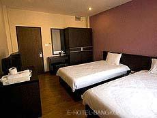 バンコク ファミリー&グループのホテル : カオサン パーク リゾート(Khaosan Park Resort)のお部屋「ツイン」