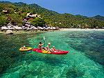 サムイ島 タオ島のホテル : コ タオ カバナ 「Kayakking」
