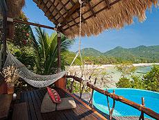 サムイ島 タオ島のホテル : コ タオ カバナ(1)のお部屋「コテージ ヴィラ ツリートップス ヴィラ」