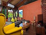 サムイ島 タオ島のホテル : コ タオ カバナ(Koh Tao Cabana)のコテージ ヴィラ オーシャン ビュー ヴィラルームの設備 Living Room
