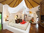 サムイ島 タオ島のホテル : コ タオ カバナ(Koh Tao Cabana)のホワイトサンド ヴィラ オーシャン ビュー ヴィラルームの設備 Bed Room