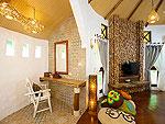 サムイ島 タオ島のホテル : コ タオ カバナ(Koh Tao Cabana)のホワイトサンド ヴィラ オーシャン ビュー ヴィラルームの設備 Living Area