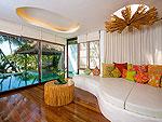 サムイ島 タオ島のホテル : コ タオ カバナ(Koh Tao Cabana)のホワイトサンド ヴィラ オーシャンビュー スイート Chum-Pooルームの設備 Living Area