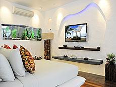 サムイ島 タオ島のホテル : コ タオ カバナ(1)のお部屋「ホワイトサンド ヴィラ オーシャンビュー スイート Chum-Poo」