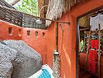 サムイ島 タオ島のホテル : コ タオ カバナ(Koh Tao Cabana)のホワイトサンド ヴィラ ビーチフロント スイート Ma-kamルームの設備 Bath Room