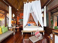 サムイ島 タオ島のホテル : コ タオ カバナ(1)のお部屋「ホワイトサンド ヴィラ ビーチフロント スイート Ma-kam」