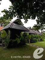 クラビ サービスヴィラのホテル : ランタ キャストアウェイ ビーチ リゾート(Lanta Castaway Beach Resort)のガーデン バンガロールームの設備 Exterior