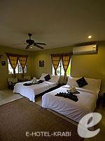 クラビ サービスヴィラのホテル : ランタ キャストアウェイ ビーチ リゾート(Lanta Castaway Beach Resort)のシーブリーズ バンガロールームの設備 Room View