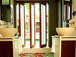 サムイ島 フィットネスありのホテル : マイ サムイ ビーチ リゾート(Mai Samui Beach Resort & Spa)のデラックス(ツイン)ルームの設備 Bath Room
