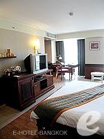 バンコク スクンビットのホテル : マジェスティック グランデ スクンビット(Majestic Grande Sukhumvit)のグランデ デラックスルームの設備 Bedroom