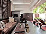 プーケット カタビーチのホテル : マリサ ヴィラ スイート(Malisa Villa Suites)のグランド プール ヴィラルームの設備 Living Area