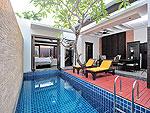 プーケット カタビーチのホテル : マリサ ヴィラ スイート(Malisa Villa Suites)のグランド プール ヴィラルームの設備 Bath Room