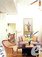 バンコク チャオプラヤー川周辺のホテル : マンダリン オリエンタル バンコク(Mandarin Oriental Bangkok)のプレミアルームルームの設備 Living Room