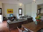 サムイ島 チョンモーンビーチのホテル : マンクート ヴィラ(Mankoot Villa)の3ベッドルームルームの設備 Living Room